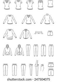 Women's clothes , Garment illustration , Vector