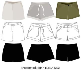 women's clothing set, shorts