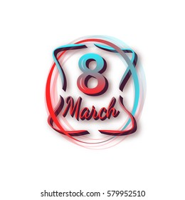 Women's day. 8 March. Vector illustration.
