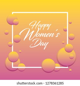Women's day celebration concept abstract background