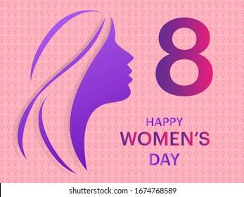 Women's Day celebration festival banner, motivational advertisement, tv programme -vector illustration