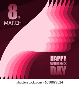 Women's day design with typography