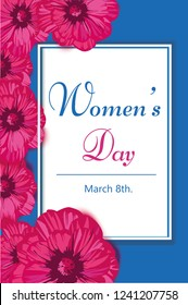 Women's Day vector card. Perfect for prints,flyers,banners, invitations, promotions and more.Vector spring illustration.