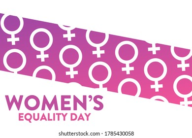 Women's Equality Day. August 26. Holiday concept. Template for background, banner, card, poster with text inscription. Vector EPS10 illustration
