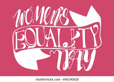 Women's equality day vector text lettering
