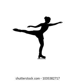 Women's figure skating. Isolated icon