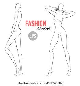 fashion figure template images stock photos vectors shutterstock