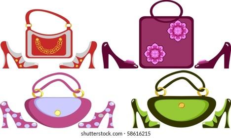 Women's footwear and handbag
