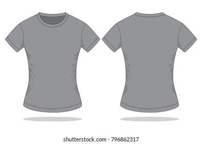 Women's grey t-shirt with short sleeve