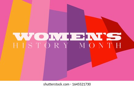 Women's History Month. Celebrated during March in the United States, the United Kingdom, and Australia. Poster, card, banner, background design. Vector illustration eps 10