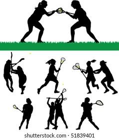 Women's Lacrosse Silhouettes