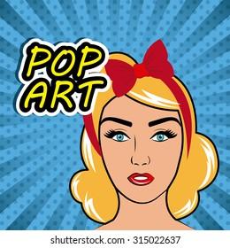 Womens in pop art cartoons graphics, vector illustration eps 10