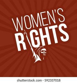 women's right day illustration