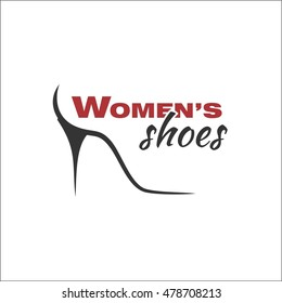 Women's shoes template for logo