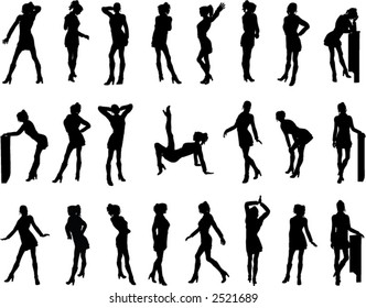 Womens Silhouettes (Vector)