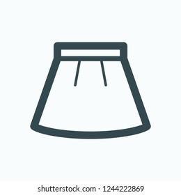 Women's skirt vector icon