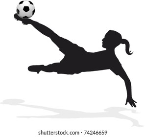 women's soccer player, bicycle kick