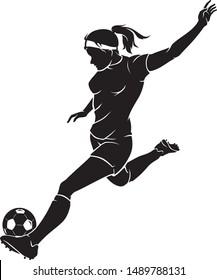 Women's Soccer Sport Action, Ball Kicking