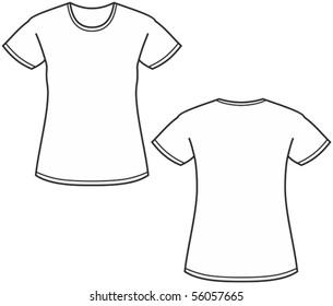 Women's t-shirt illustration