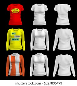 550dd4ebf Women's T-shirt. Template, layout women's t-shirts with the ability to