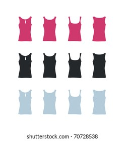 Women's t-shirt vector templates
