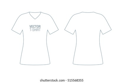 V Neck T-shirt Template Images, Stock Photos & Vectors | Shutterstock