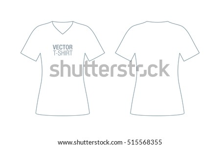 Womens vneck vector tshirt template front stock vector royalty free womens v neck vector t shirt template maxwellsz