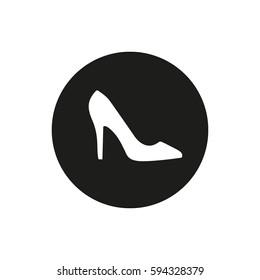 Women's white shoe sign vector