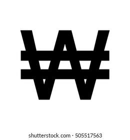 Won sign icon.Money symbol. Vector illustration. Korean won