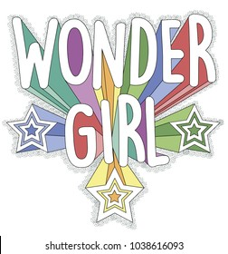 wonder girl, vector graphics for your design,vector graphics for t-shirt