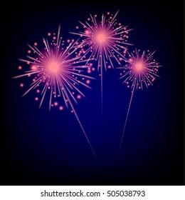 wonderful fireworks, illustration