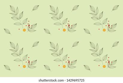 Wonderful graphic floral pattern. Perfect for textile, wallpapers, wrapping paper. Vector illustration.