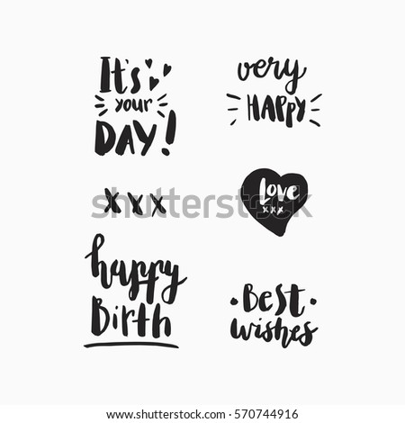 Wonderful Handwritten Birthday Wishes Amazing Greeting Stock