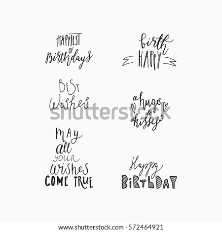 Wonderful Handwritten Birthday Wishes For Amazing Greeting Cards Hand Drawn Lettering Happy Card
