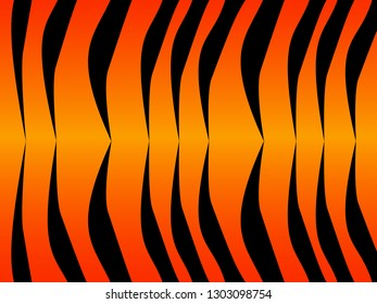 Wonderful simple design of the tiger skin