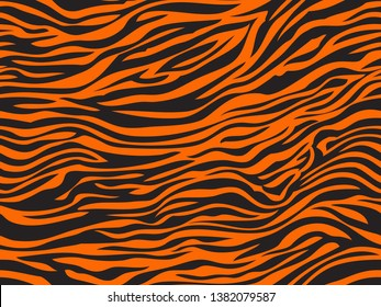 Wonderful simple design of the tiger skin exture pattern seamless repeating orange black