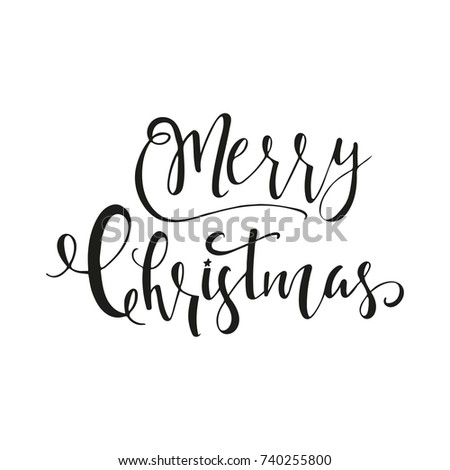 Wonderful Unique Handwritten Christmas Wishes Holiday Stock Vector ...