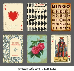 Wonderland Cards - Set of whimsical playing cards, inspired by Alice in Wonderland