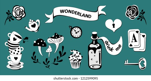 wonderland vector set