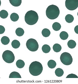 Wondrous Continuous Pattern With Green Polka Dots. Elements are not cropped. Pattern under the mask. Vector. Perfect design for textile, box, posters, cards, web etc.