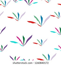 Wondrous Pattern of grass different colors. Seamless Vector. Elements are not cropped. Pattern under the mask. Perfect design for textile, box, posters, cards, brochures, etc.