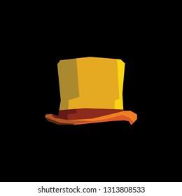 wonka hat low poly vector element design