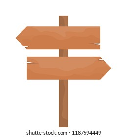 Wood arrow sign left and right on road nice for advice or warning. made with inkscape