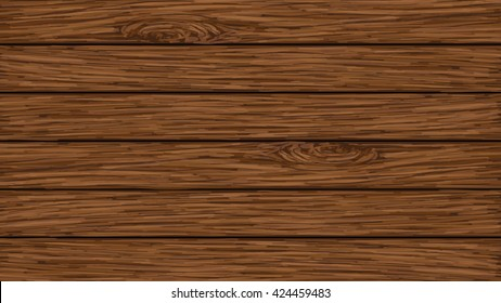 Wood background from vector.Brown wood from hand drawing.
