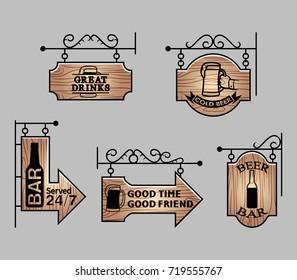 Wood Bar Signage