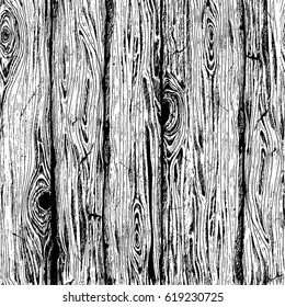 Wood board hand drawn graphic texture. Seamless pattern with old wood planks for your design