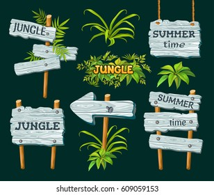 Wood board  for text. Price and discount stickers, banners, badges. Vector illustration.