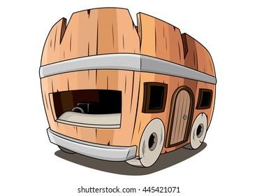 Wood bus