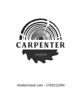 wood and carpenter logo  icon and template