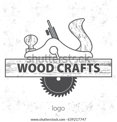 Wood Craft Logo Wood Works Professional Stock Vector Royalty Free